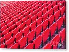 Red Stadium Seats Acrylic Print by Edward Fielding