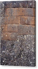 Red Stone Bricks Acrylic Print by Marcus Best