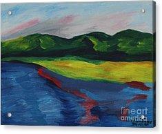 Red Streak Lake Acrylic Print