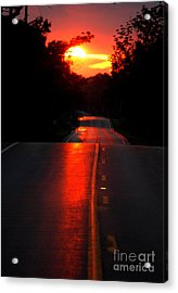 Acrylic Print featuring the photograph Red Street by Lila Fisher-Wenzel