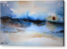 Red Sun Beach Acrylic Print by Neva Rossi