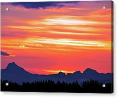 Red Sunrise Acrylic Print