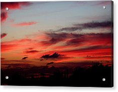 Red Sunset Acrylic Print by Arik Baltinester