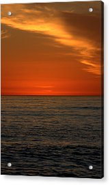 Red Sunset Acrylic Print by Brad Scott