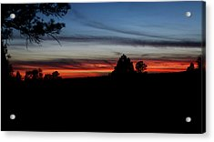 Red Sunset Strip Acrylic Print