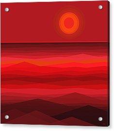 Red Sunset Acrylic Print