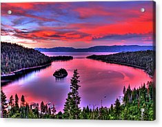 Red Tahoe Acrylic Print by Scott Mahon