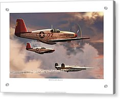 Red-tailed Angels Tuskegee Airmen P-51c Mustang Acrylic Print by Craig Tinder