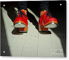 Red Tap Shoes Acrylic Print