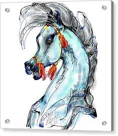Red Tassle Stallion Acrylic Print