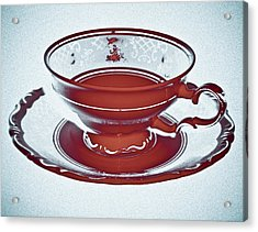 Red Tea Cup Acrylic Print by Frank Tschakert