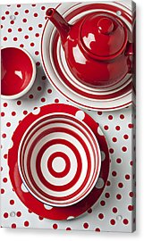 Red Teapot Acrylic Print by Garry Gay