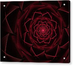 Red Textile Rose Acrylic Print