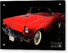 Red Thunder Acrylic Print by Wingsdomain Art and Photography