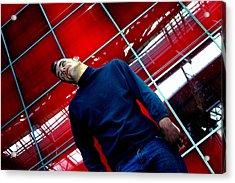 Red Tilt Acrylic Print by Jez C Self