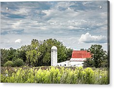 Red Tin Roof Acrylic Print