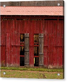 Red Tobacco Barn Acrylic Print