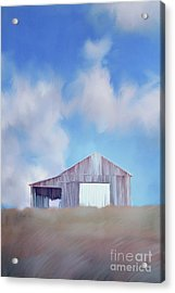 Red Tobacco Barn  Acrylic Print by Stephanie Frey