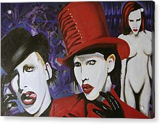 Red Tophat Acrylic Print by Ottoniel Lima