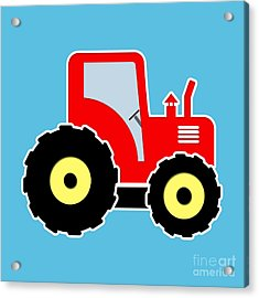 Red Toy Tractor Acrylic Print