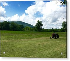 Red Tractor Acrylic Print
