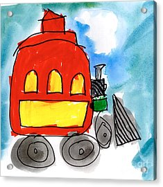 Red Train Acrylic Print