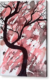Red Tree Enchantment Acrylic Print