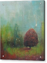 Red Tree  Acrylic Print by Joya Paul