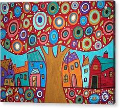 Red Tree Acrylic Print by Karla Gerard