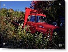 Red Truck Acrylic Print by Jerry LoFaro