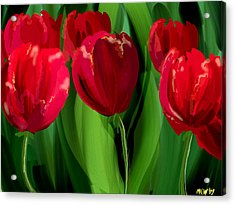 Red Tulips Acrylic Print by Margaret Wingstedt