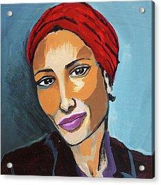 Red Turban Acrylic Print