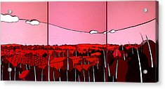 Red Tuscan Longview Acrylic Print by Jason Charles Allen