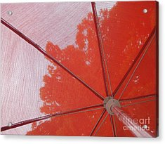 Red Umbrella Acrylic Print