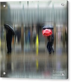 Acrylic Print featuring the photograph Red Umbrella by LemonArt Photography