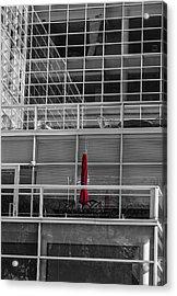 Red Umbrella - Madison Wisconsin Acrylic Print