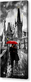 Red Umbrella Acrylic Print by Yuriy  Shevchuk