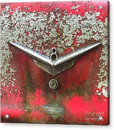 Acrylic Print featuring the photograph Red V-8 by Terry Rowe