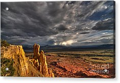 Acrylic Print featuring the photograph Red Valley by Brian Spencer