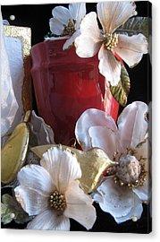 Red Vase Acrylic Print by Lindie Racz