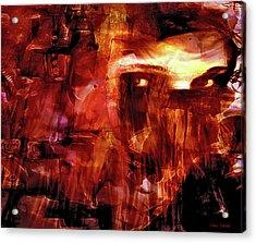 Acrylic Print featuring the photograph Red Veil by Linda Sannuti