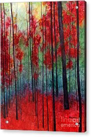 Acrylic Print featuring the painting Red Velvet by Hailey E Herrera