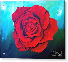 Red Velvet Acrylic Print by Herschel Fall