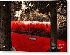 Red Velvet  Acrylic Print by Mindy Sommers