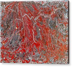 Red Volcano Acrylic Print