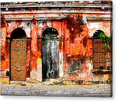 Red Wall By Darian Day Acrylic Print by Mexicolors Art Photography