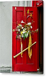 Red Welcome Acrylic Print by Christopher Holmes