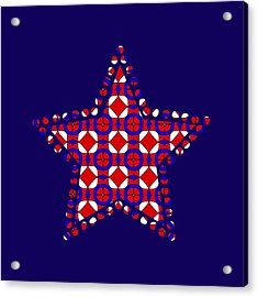 Red White And Blue Acrylic Print by Becky Herrera