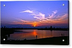 Acrylic Print featuring the photograph Red, White And Blue by Eric Dee
