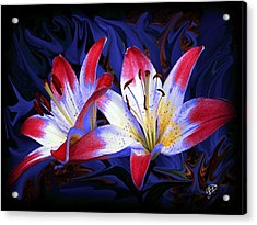 Red White And Blue Acrylic Print by Jim  Darnall